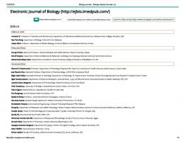 Biology journals , Biology Indexed Journals List