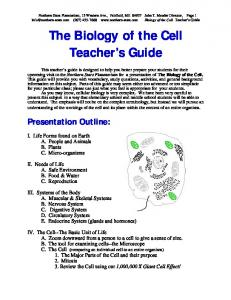 Biology of the Cell Teacher's Guide - Northern Stars Planetarium ...