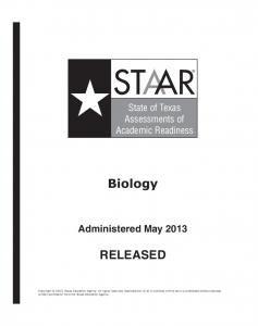 Biology RELEASED - Texas Education Agency