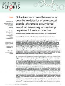 Bioluminescence based biosensors for quantitative detection ... - Nature