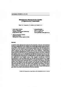 Bioluminescence Biosensor for the Detection of ... - Wiley Online Library