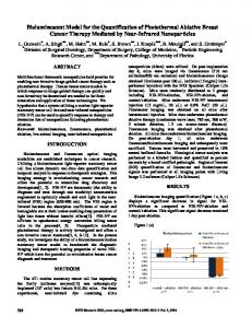 Bioluminescent Model for the Quantification of Photothermal Ablative ...