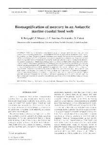 Biomagnification of mercury in an Antarctic marine ... - Inter Research