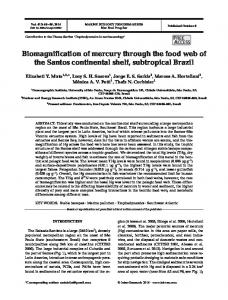 Biomagnification of mercury through the food web of the Santos ...