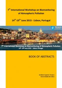 BIOMAP 7 - Book of Abstracts - 7th International Workshop on ...