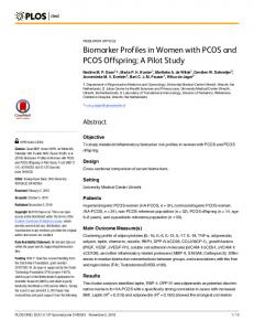 Biomarker Profiles in Women with PCOS and