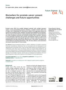 Biomarkers for prostate cancer - Semantic Scholar