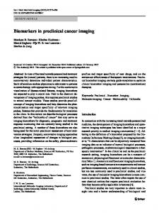 Biomarkers in preclinical cancer imaging - Springer Link
