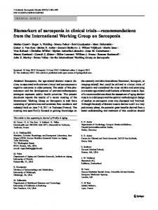Biomarkers of sarcopenia in clinical trials ... - BioMedSearch