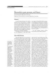 Biomarkers: past, present, and future - CiteSeerX