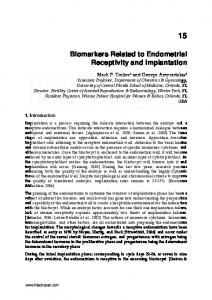 Biomarkers Related to Endometrial Receptivity and ... - InTechOpen