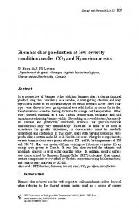 Biomass char production at low severity conditions under ... - WIT Press