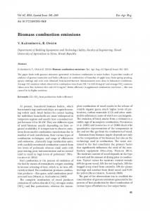 Biomass combustion emissions - Agricultural Journals