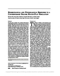 biomechanical and physiological response to a