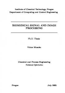 BIOMEDICAL SIGNAL AND IMAGE PROCESSING Ph.D. Thesis