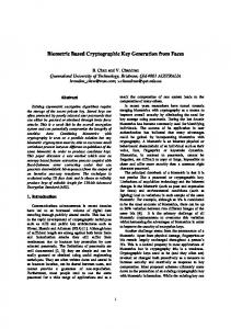 Biometric Based Cryptographic Key Generation ... - Semantic Scholar