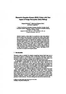 Biometric-Gaussian-Stream (BGS) Cipher with New Aspect of Image