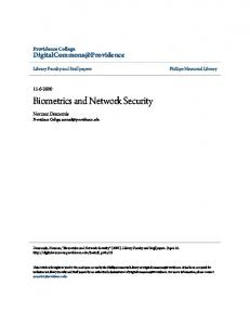 Biometrics and Network Security