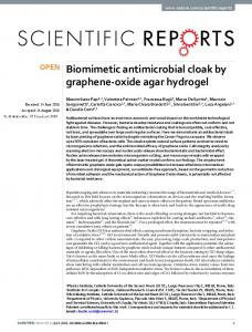 Biomimetic antimicrobial cloak by graphene-oxide ...