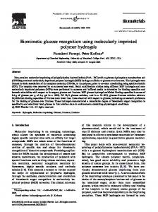 Biomimetic glucose recognition using molecularly imprinted polymer ...