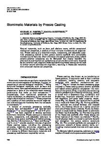 Biomimetic Materials by Freeze Casting - Springer Link