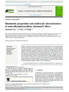 Biomimetic preparation and multi-scale
