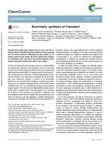 Biomimetic synthesis of Tramadol