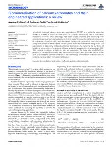 Biomineralization of calcium carbonates and their