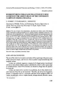 biomonitoring urban air pollution by using lichens in ...