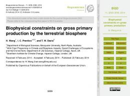 Biophysical constraints on gross primary production