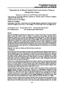 Bioproduction of Natural Isoamyl Esters from Coconut ... - CiteSeerX
