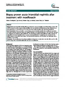 Biopsy proven acute interstitial nephritis after treatment ... - Springer Link
