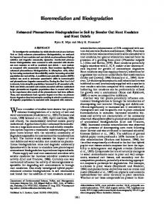Bioremediation and Biodegradation