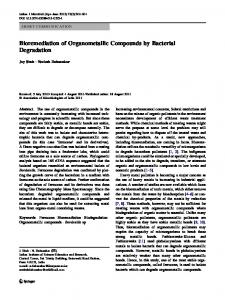 Bioremediation of Organometallic Compounds by ... - Springer Link