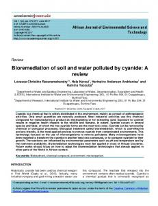 Bioremediation of soil and water polluted by ... - Academic Journals