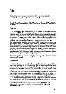 Biosafety and risk assessment in the use of genetically modified ...