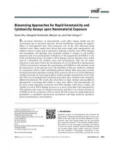 Biosensing Approaches for Rapid Genotoxicity ... - Wiley Online Library