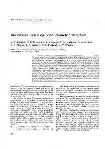 Biosensors based on conductometric detection