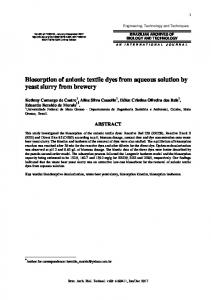 Biosorption of anionic textile dyes from aqueous solution by yeast ...