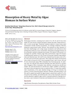 Biosorption of Heavy Metal by Algae Biomass in Surface Water