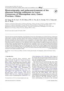 Biostratigraphy and palaeoenvironment of the ... - Semantic Scholar