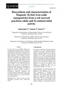 Biosynthesis and characterization of Magnetic (Fe3o4) Iron oxide