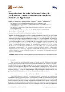Biosynthesis of Bacterial Cellulose/Carboxylic ... - Semantic Scholar