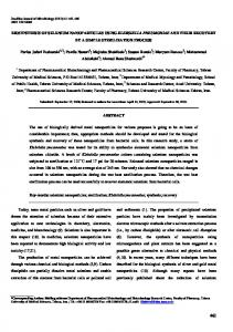 BIOSYNTHESIS OF SELENIUM NANOPARTICLES USING ... - Scielo.br