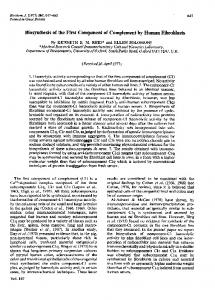 Biosynthesis of the First Component of Complement by ... - Europe PMC
