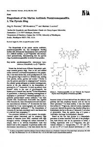 Biosynthesis of the Marine Antibiotic