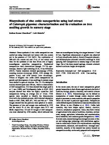 Biosynthesis of zinc oxide nanoparticles using leaf