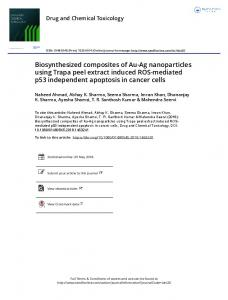 Biosynthesized composites of Au-Ag nanoparticles ...