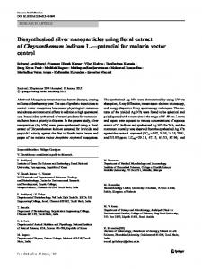 Biosynthesized silver nanoparticles using floral extract of