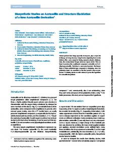Biosynthetic Studies on Acetosellin and Structure